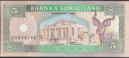 SOMALIE - 5 Shillings 1994 UNC Pick 1 - Somalia