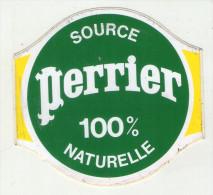 AUTOCOLLANTS . STICKER . PERRIER  . SOURCE  PERRIER  100 %  NATURELLE - Autocollants