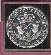 SCOTLAND SILVER MEDAL PROOF 1808 GEORGIUS III DEI GRATIA REX - Monnaies Régionales