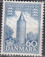 ARCHITECTURE - MEDIEVAL TOUR MÉDIÉVALE TOWER MITTELALTERLICHER TURM-  HISTORY DENMARK DANMARK DÄNEMARK 1954 MI 348 MNH - Châteaux