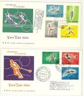 SAN MARINO - FDC *** TRE STELLE - VERSO TOKIO 1964 - ANNO 1963 - 3 BUSTE - FDC