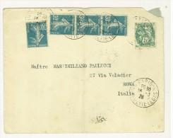FRANCIA - LETTERA  PER  ROMA ANNO 1926 - Storia Postale