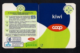 # KIWI COOP  Italy Apples Tag Balise Etiqueta Anhänger Cartellino Fruits Frutas - Fruits & Vegetables