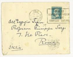 FRANCIA - LETTERA  PER  ROMA ANNO 1929 ( N° 181 ) ANNULLO PUBBL. - LETTERA RIUTILIZZATA SPEDITA DALLA GRAN BRETAGNA FOTO - Storia Postale