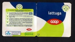 # LATTUGA COOP  Italy Apples Tag Balise Etiqueta Anhänger Cartellino Fruits Frutas Lettuce Laitue Kopfsalat - Fruits & Vegetables