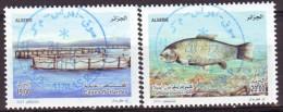 Algérie - 2013  Timbres Avec Oblitérations Rondes De Qualité. ( Poisson D´élevage). - Fische