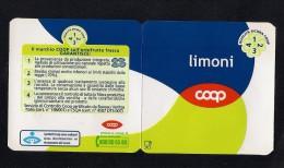 # LIMONI COOP  Italy Apples Tag Balise Etiqueta Anhänger Cartellino Fruits Frutas Lemon Citron Zitrone - Fruits & Vegetables