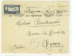 FRANCIA - LETTERA POSTA AEREA - DA CANNES PER ROMA - VALERIO PONTECORVO -  ANNO1933 - Storia Postale