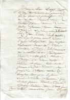 DOC. NOTARIAL 1 FEUILLE P.F CACHET IMP. HUMIDE 25 CENTS + CACHET SEC 24/07/1814 -  Quittance St Cydroine Looze - Cachets Généralité