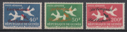 Guinea 1962 Conquest Of Space Overprint. Part Set Mi 145-146, 148 MNH - Space