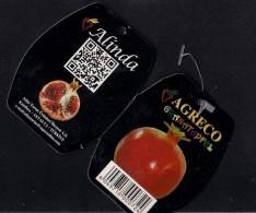 # MELOGRANO AGRECO Tag Balise Etiqueta Anhänger Cartellino Fruits Frutas Frutta Früchte Grenade Granatapfel Pomegranate - Fruits & Vegetables