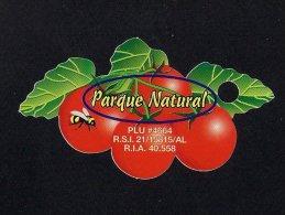 # PARQUE NATURAL TOMATO Onion Tag Balise Etiqueta Anhänger Cartellino Vegetables Gemüse Legumes Verduras Pomodoro Tomate - Fruits & Vegetables