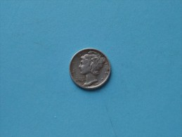 1941 S - Dime / KM 140 ( Uncleaned Coin / For Grade, Please See Photo ) !! - Émissions Fédérales