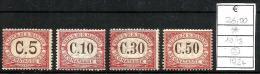 1924  SAN MARINO  Segnatasse Serie Non Completa Nuova * MLH - Segnatasse