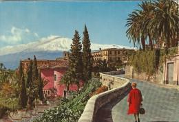 Taormini - The Etna From Roma Street. Sent To Denmark.  # 04647 - Italy