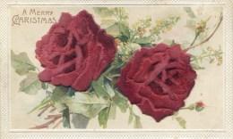 NOVELTY - APPLIQUED VELVET FLOWERS - CHRISTMAS Nov89 - Christmas