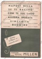 *SPARTITO - SERIE RITMI E CANZONI 4 SUCCESSI 1951 ED. MUS. MILLEN MODENA - - Spartiti