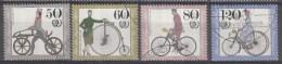 West-Duitsland - Jugend: Historische Fahrräder; Internationales Jahr Der Jugend - O - Used - Michel 1242 - 1245 - Wielrennen