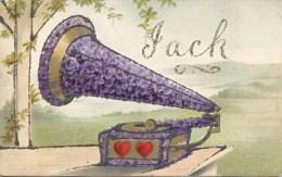 NOVELTY - OLD GRAMOPHONE - JACK (GLITTER) Nov92 - Firstnames