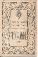 St Prix Union Nationale Des Combattants Programme De Théatre 11/11/50 14/18 1914/1918 Ww1 Ww2 39/45 1939/1945 2wk - 1939-45