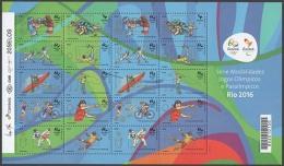 BRAZIL 2015 - Summer Olympic Games Rio 2016. SECOND EDITION - Full Sheet - 10 Sports - Eté 2016: Rio De Janeiro