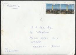 Nederland Netherlands Airmail 1994 Brandaris (Terschelling) Lighthouse,1835 Commemorative Postal History Cover Sent To P - Period 1980-... (Beatrix)