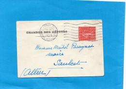 MARCOPHILIE-Lettre  -Chambre Des Députés -avec Cachet  Concordant -1929 Sur 50c Semeuse Lignée - Marcophilie (Lettres)