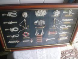 Tres Beau Grand Tableau Noeuds De Marin - Maritime Decoration