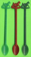 MÉLANGEURS À BOISSON - TOUILLEURS - LOT DE 3 , CLUB CARROUSEL RITZ, GRANBY, QUÉBEC - COURSE SOUS-HARNAIS - - Swizzle Sticks
