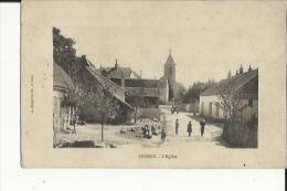 Seveux  70    Au Fond L'Eglise Et La Rue Bien Animée...voir Scan Au Verso - France