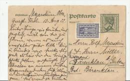 == AT  GS Karte Antwort 1922  Bug - Ganzsachen