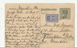 == AT  GS Karte Antwort 1922  Bug - Interi Postali