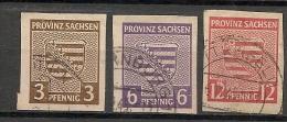 GERMANY - SAXE - Yvert # 2-4-6  USED - Zone Soviétique