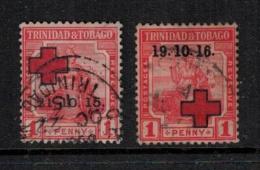 Trinidad And Tobago 1915 SC B2-B3 Used Red Cross - Trinidad & Tobago (1962-...)