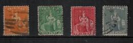 Trinidad  1876 SC 58-61 Used - Trinidad & Tobago (1962-...)