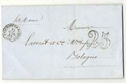 Haute Marne - Chaumont En Bassigny Pour Les Forges De Bologne. LSC De 1851 - 1849-1876: Classic Period