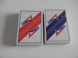2 jeux de 52 cartes - transports CGM - bateaux