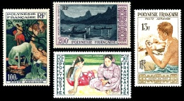 POLYNESIE 1958 - Yv. PA 1 à 4 **   Cote= 85,50 EUR - Art Polynésien (4 Val.) ..Réf.POL22233 - Poste Aérienne