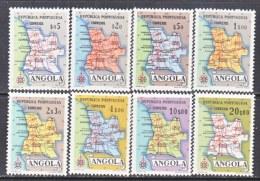ANGOLA  386-93  **   MAP