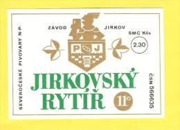 Old Beer Label - Czech, Češka - Bière