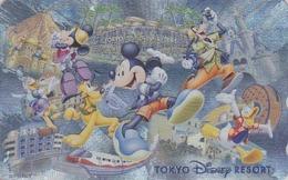 Télécarte Argent NEUVE Japon / 110-212615 - DISNEY RESORT - Mickey Minnie Donald Train -Japan MINT Silver Phonecard - Disney