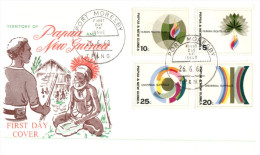 (555) Papua New Guina FDC Cover - 1968 - Human Rights - Papouasie-Nouvelle-Guinée