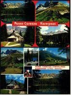 2 X Passo Carezza Costalunga / Karerpass  -  Mehrbild-Ansichtskarten Ca.1985   (4815) - Italien
