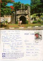 Malaysia 1990 Postcard Malacca Fort Malacca Portuguese Stamp Nice PMK - Malaysia