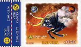 2015 Latvia Latvian Stamp China,Lunar Horoscope MNH ==  Taurus === - Lettonie