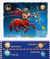 2015 Latvia Latvian Stamp China,Lunar Horoscope MNH ==  Archer === - Letonia