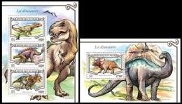 nig15307ab Niger 2015 Dinosaurs 2 s/s