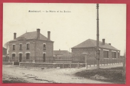 45- Manchecourt - La Mairie Et Les Ecoles - 1934 ( Voir Verso ) - Autres Communes