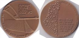 Medaille Aus Israel -100 Years Of Settlement 1882-1982 - Entriegelungschips Und Medaillen