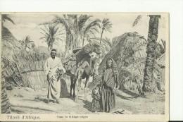 LYB4   --  TRIPOLI D `AFRIQUE   --  DANS LA VILLAGE NEGRE - Libyen